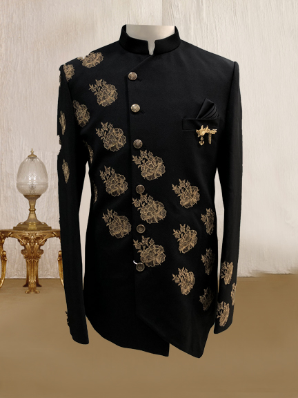 BLACK CROSS EMBROIDERED INDO WESTEN