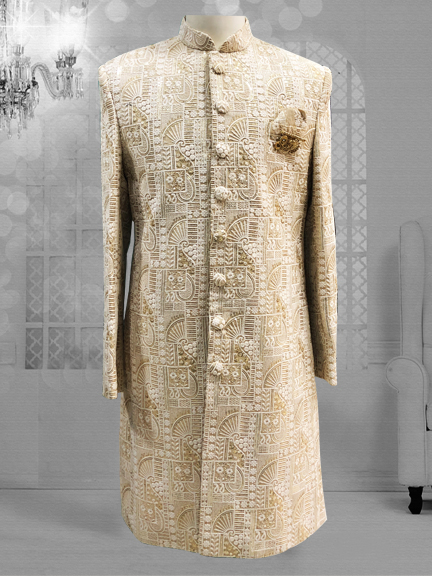 CREAM WITH GOLD INDO WESTERN
