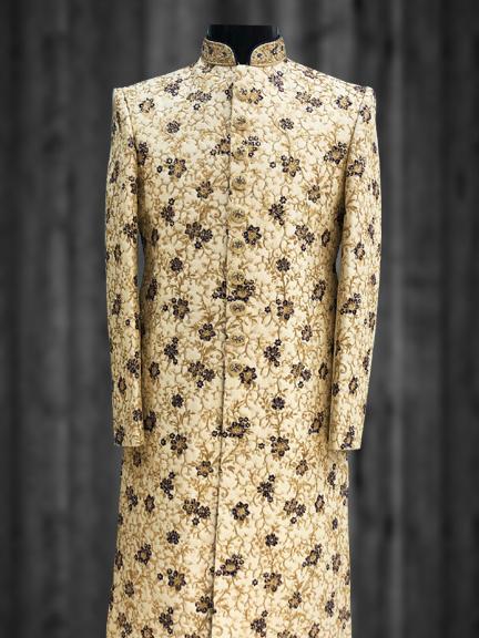 GOLD HEAVY EMBROIDERED SHERWAANI