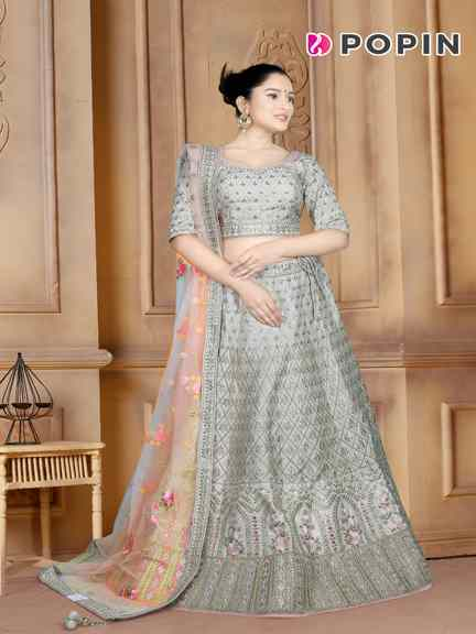 CREAM HEAVY CHANIYA CHOLI