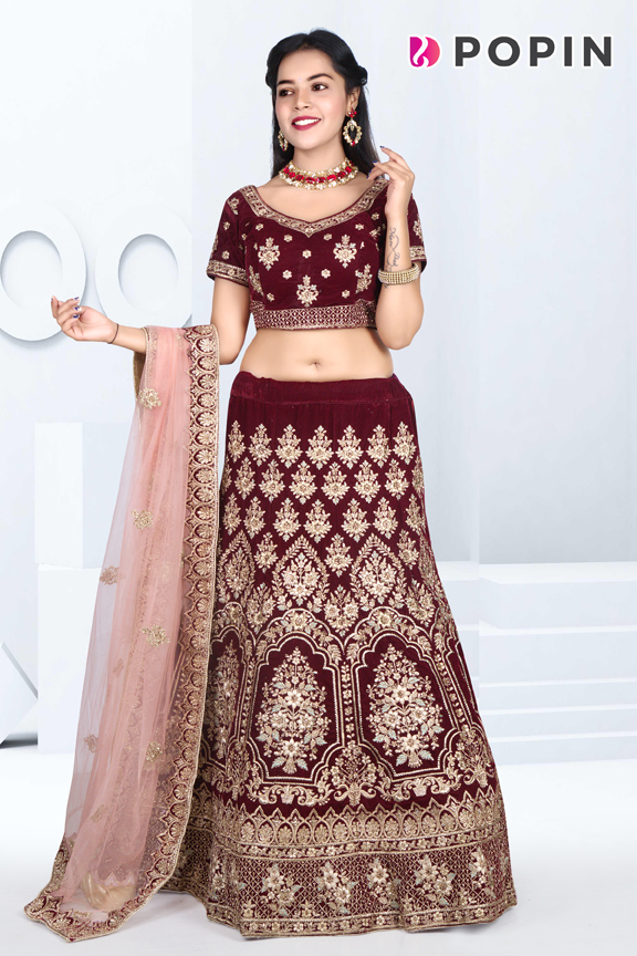 MARUN HEAVY EMBROIDERED CHANIYA CHOLI