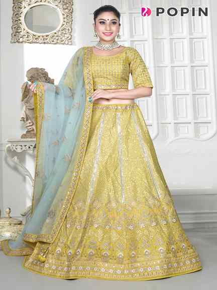 MUSTER YELLOW CHANIA CHOLI