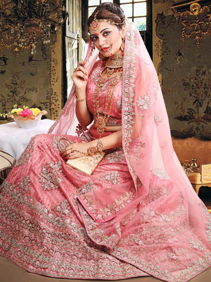 GOLDEN WITH PINK SHADING SAREE