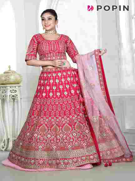 RANI PINK HEAVY GOTA APTTY WORK CHANIA CHOLI