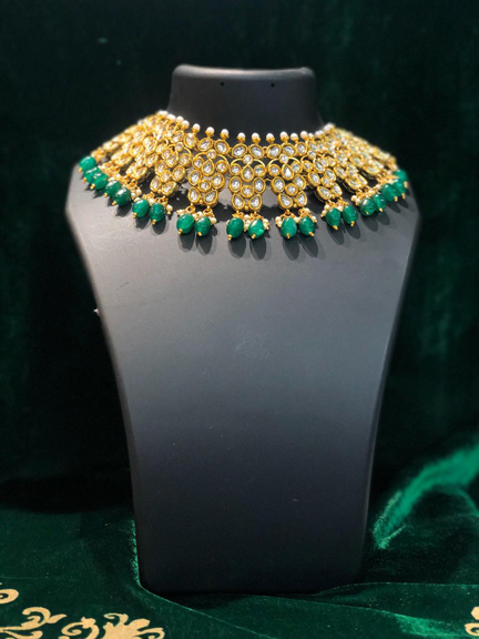 GOLD WITH GREEN SET