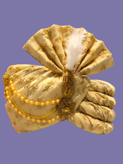 GOLDEN EMBROIDERED SAFA