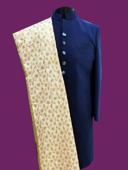 GOLD EMBROIDERED STALL DUPATTA