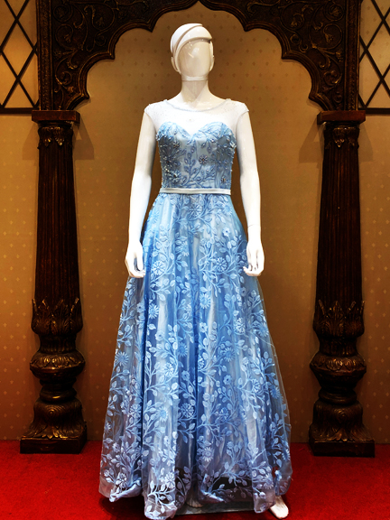 SKY BLUE NET GOWN