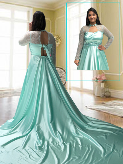 SEA GREEN PRESHOOT TAIL GOWN