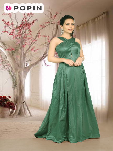 C. GREEN PRE WEDDING GOWN