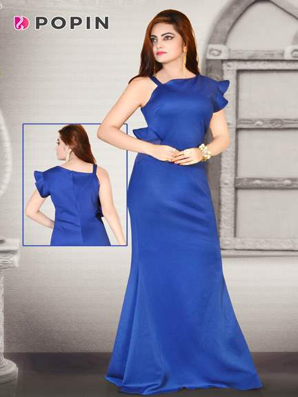 ROUAL BLUE  WESTERN GOWN