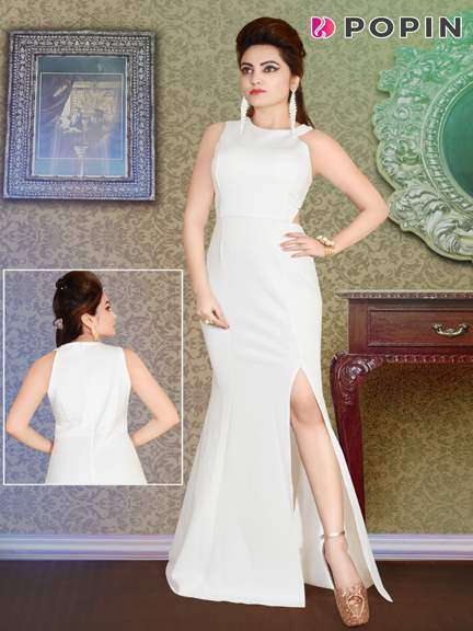 WHITE WESTERN GOWN