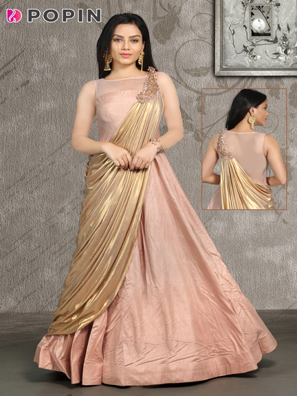 ROSE GOLD  ATTACH STALL GOWN
