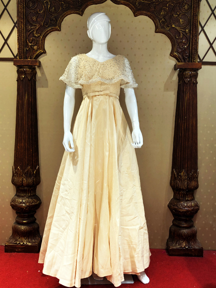CREAM BALL GOWN ON RENT