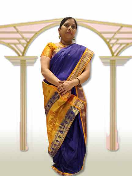 MARATHI PURPLE SAREE WITH GOLD PALAV